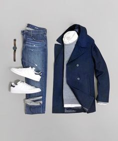 Wearing Stylish Mens Fashion Jackets - look - Mode Masculine, Casual Outfits, Men Casual, Fashion Outfits, Smart Casual, Casual Shoes, Jackets Fashion, Fashionable Outfits, Retro Mode