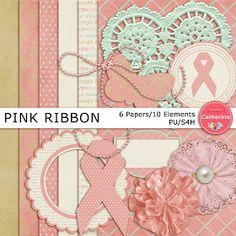 This & That: Freebie: Pink Ribbon