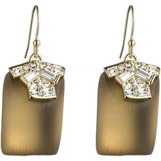 Alexis Bittar Teatro Moderne Gold Rectangle Drop Earwire Earring ($155) ❤ liked on Polyvore