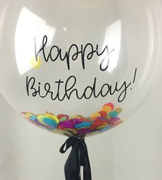 Happy Birthday Box #confetti #balloon #giftidea #partyonpaper