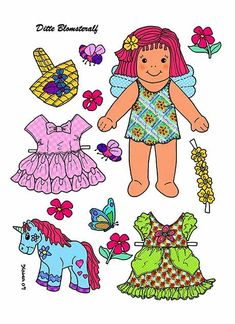 Paperized: Ditte Flower Fairy Paper Doll
