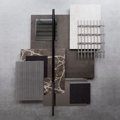 This week we've been experimenting with contrasting and natural material combinations for a bespoke furniture project that we are working on. Here's one of the material boards we created #materials #normarchitects