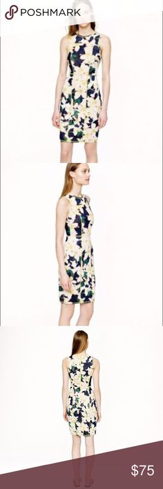 NWT J.Crew Floral Cove Scuba Surf Dress 16 New with Tags J.Crew Floral Cove Scuba Dress Women's US Size 16, this dress is sold out everywhere.  Inspired by a wetsuit but a million times more chic, this dress is made from actual neoprene in a punchy digital print. Better suited for sidewalks than sand or surf, the sleek fitted silhouette is finished with neon seaming and exposed back zip.  Polyester  Bra Keeps  Exposed back zip  Machine Wash  Import J. Crew Dresses Midi