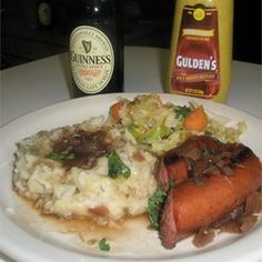 True Bangers and Mash with Onion Gravy