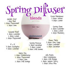 Here are some spring diffuser blends using CPTG essential oils. Just a few drops and the room will smell wonderful plus you'll be getting emotional and health benefits of these oils. This past weekend it was spring-like weather in the 70's and today snow. Only in NV where you can have 4 seasons in one day! #essentialoils #doterra #diffuser #blend #aromatherapy #therapeutic #spring #sierranevada #seasons