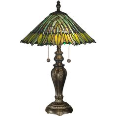 Dale Tiffany™ Leavesley Table Lamp ($350) ❤ liked on Polyvore featuring home, lighting, table lamps, fluorescent lamp, dale tiffany lamps, multi color lights, dale tiffany table lamps and dale tiffany lighting