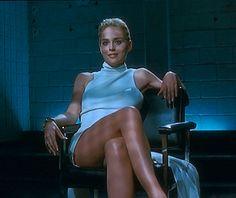 Basic Instinct (1992): interrogation scene with Sharon Stone going commando as she crosses & uncrosses her legs.