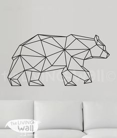 Geometric Bear Wall Decal, Geometric Animals Decals, Bear Home Decor Wall…