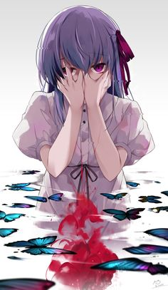 World of Our Fantasy Fate Stay Night Sakura, Fate Stay Night Series, Anime Purple Hair, Type Moon Anime, Character Art, Character Design, Matou, Fate Anime Series, Fate Zero