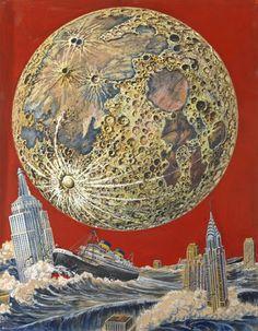 Frank R. Paul. Apocalyptic New York. 1933.