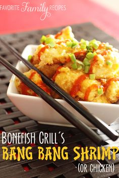 Bonefish Grill's Bang Bang Shrimp (or Chicken) - Favorite Family Recipes