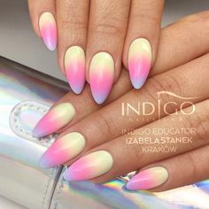 Chiquita Banana, Miss America, Call me a Unicorn Gel Polish from Miami Collection 2017 by Natalia Siwiec  Nails Design: Centrum szkoleniowe Indigo Izabela Stanek #nails #nail #nailsart #indigonails #indigo #hotnails #summernails #springnails #omgnails #amazingnails #inspiration #effectnails #effect #pastelnails #pastel #miami #nataliasiwiec #cutenails #ombre #ombrenails