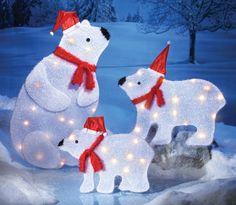 arctic polar bear family figures christmas decoration christmas garden family christmas all things christmas