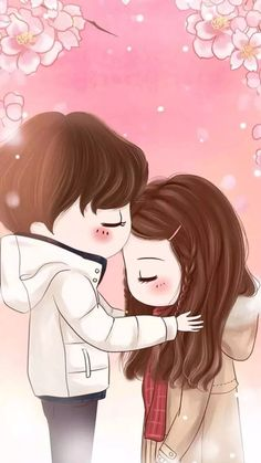 59 best wallpaper anime cute couple images in 2018 Cute Couple Images, Love Cartoon Couple, Chibi Couple, Cute Couple Art, Cute Love Cartoons, Anime Love Couple, Cute Anime Couples, Cartoon Wallpaper, Chibi Wallpaper