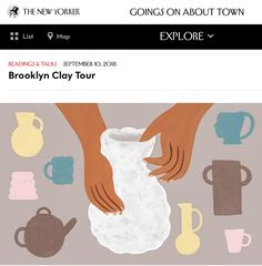 Bklyn Clay Pottery Classes, September 10, The New Yorker, Clay, Clays, Modeling Dough