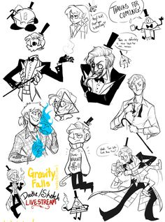 OMG THE ONE AT THE TOP WITH DIPPER AS LINK AND BILL AS NAVI IM DYINGGGGGGGG