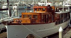 The Portola Yacht, built in 1928 and featured in the movie Some Like it Hot and was once owned by Errol Flynn. Friends of mine owned this boat and lovingly cared for it for approximately 37 years.  It is such a beautiful boat.