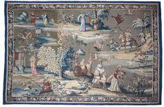 "John Vanderbank ""Indian Manner"" tapestry, Victoria and Albert Museum. Medieval Tapestry, Oriental Fashion, Victoria And Albert Museum, Manners, Chinoiserie, Fresco, Photo Art, Tapestries, Textiles"