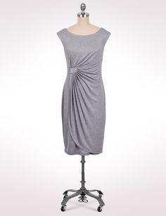 Misses | Dresses | Glittered Side-Wrap Dress | dressbarn