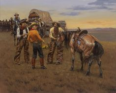 Andy Thomas We Let the New Boys Ride Buttercup Cowboy And Cowgirl, Cowboy Pics, Cowboy Images, West Art, Cowboys And Indians, Le Far West, Country Art, Native Indian, Native American Art