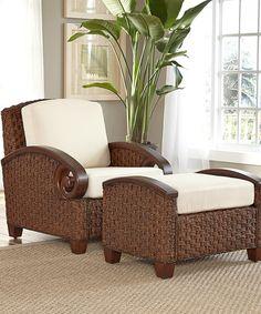 Look at this #zulilyfind! Cinnamon Cabana Banana Chair & Ottoman #zulilyfinds