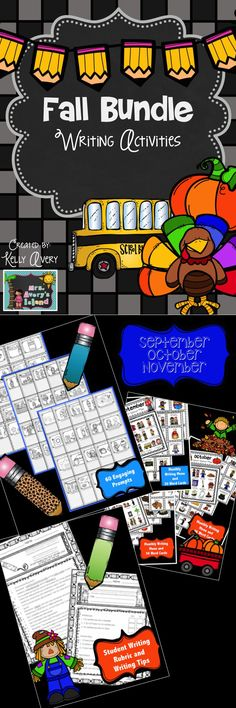 Fall Writing Work on Writing Daily 5 #teachersfollowteachers #teacherspayteachers #iteachtoo