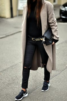 black & sneakers #style #fashion #streetstyle