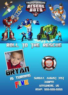 Rescue Bots Birthday Invitations $8.99