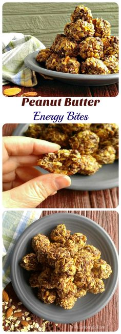 These no bake peanut butter energy bites pack a nutritious boost. They are super easy to make and SO, SO Tasty! thegardeningcook.com