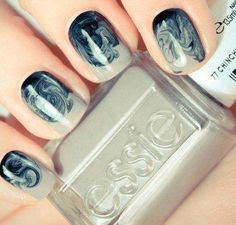 Really love the design of this nail. A simple Essie shade turns into beautiful nail art. Nails B it Get Nails, Fancy Nails, Love Nails, How To Do Nails, Pretty Nails, Hair And Nails, Gorgeous Nails, Amazing Nails, Perfect Nails
