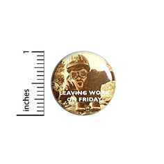 Leaving Work On Friday Funny Button Backpack or Jacket Pinback Warrior Pin 1 Inch 9-10 Outerspacebacon Leaving Work On Friday, Funny Buttons, Friday Humor, Work Humor, Work Gifts, 9 And 10, Funny Work, Backpacks, Jacket