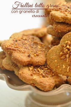 Burro e Malla: Frollini tutto grano con granella di croccante