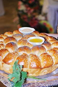 Kravai - traditional Bulgarian Christmas bread.
