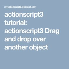 Actionscript3 Tutorial Drag And Drop Over Another Object Business Cards Visit