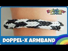 Rainbow Loom Doppel-X Armband mit MonsterTail - deutsche Anleitung - YouTube
