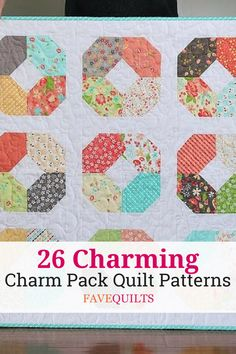 We can guarantee that any charm quilt fan will enjoy these 26 Charming Charm Pack Quilt Patterns