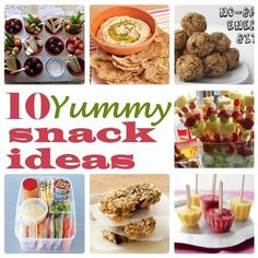 "Feeding frenzy: Now that they're back to school, there's ""AFTER SCHOOL"" to think about! 10 Yummy After School Snack Ideas! #backtoschool #snacks"