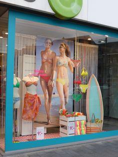 window display may 2013 - using Reboard to make the surf board.