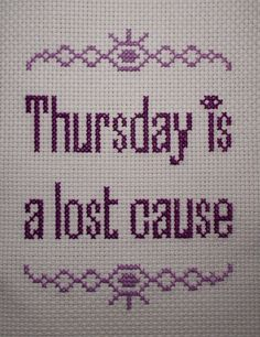 I can't stop cross stitching things related to Welcome to Night Vale. No, really, I can't stop. I haven't slept for days. Please send help.