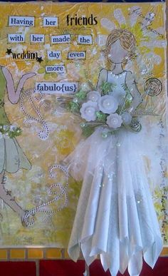 Close up of the bride... Love the Prima stars as the basis for her bouquet!
