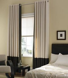 hang your curtains high to make the window and your room look bigger