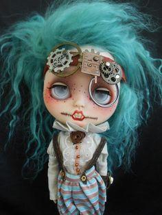 Custom Steampunk Blythe Doll por Spookykidsworkshop en Etsy