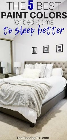 The 5 best paint colors for bedrooms.to help you sleep better. paint colors The 5 Best Paint Colors For Bedrooms Best Wall Colors, Best Bedroom Paint Colors, Dark Paint Colors, Interior Paint Colors, Interior Design, Paint Colours For Bedrooms, Neutral Paint, Interior Sketch, Interior Plants
