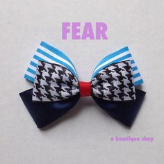 fear hair bow by abowtiqueshop on Etsy inside out