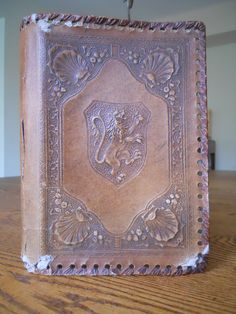 Lion  Vintage Leather Book Cover