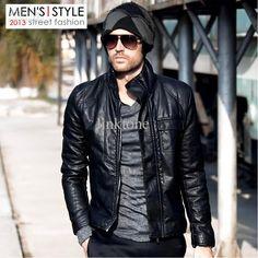 Lambskin Leather Jacket Genuine Mens Stylish Motorcycle Biker Red ...