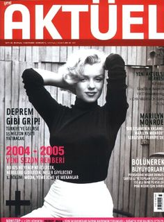 "Photo of Marilyn Monroe by Alfred Eisenstaedt on the front cover of ""Yeni Aktuel"" magazine from Turkey, September 30th 2004."