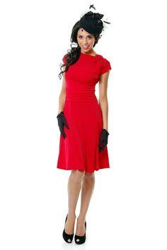 Retrolicious - Bridget Bombshell dress in Red