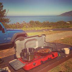 Blueberry Pancakes #breakfast #coffee #pancakes #ocean #coastline #jeep