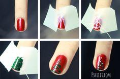 Galletita de Jengibre: Diseño de uñas faciles para navidad.